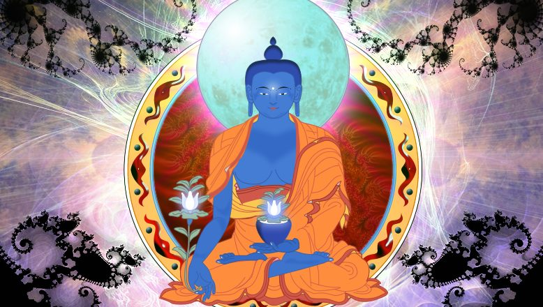 Medicine_Buddha_by_theeyethateats