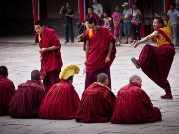 Monks-Debate-over-Buddhist-Scriptures