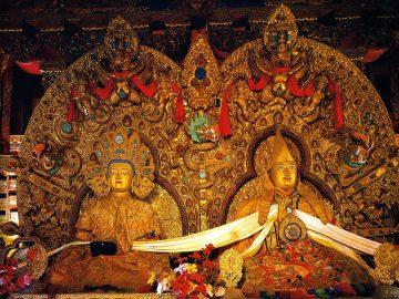 Tibet Lhasa 04 05 Potala Dalai Lama 5 and Shakyamuni