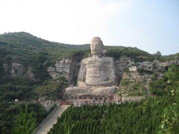 Mông Sơn Đại Phật sau khi đã được phát hiện và trùng tu